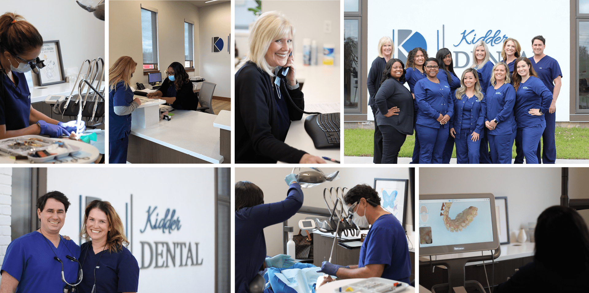 Montage of the specialization features at Kidder Dental.