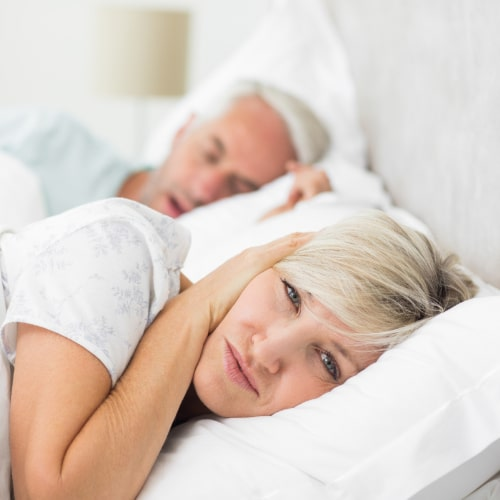 Female upset about husband's snoring from sleep apnea in Baton Rouge